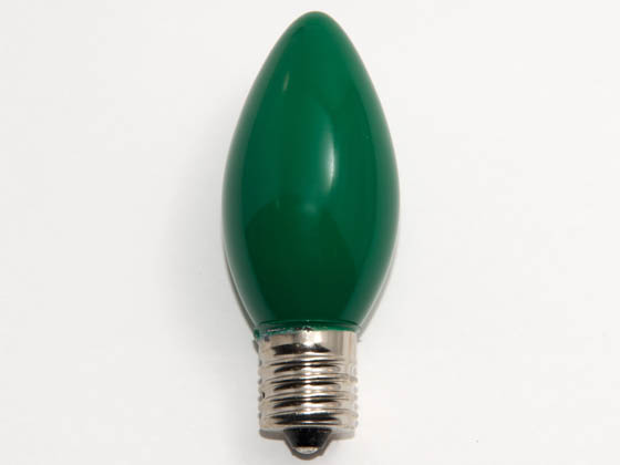 Value Brand LBD104 7C9N CG (130V) 7 Watt, 130 Volt C9 Green Indicator, Holiday Bulb