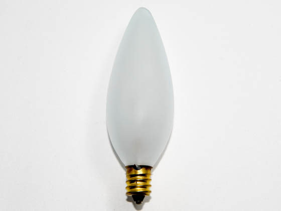 Bulbrite 401060 60CTF/32 (130V) 60W 130V Frosted Blunt Tip Decorative Bulb, E12 Base