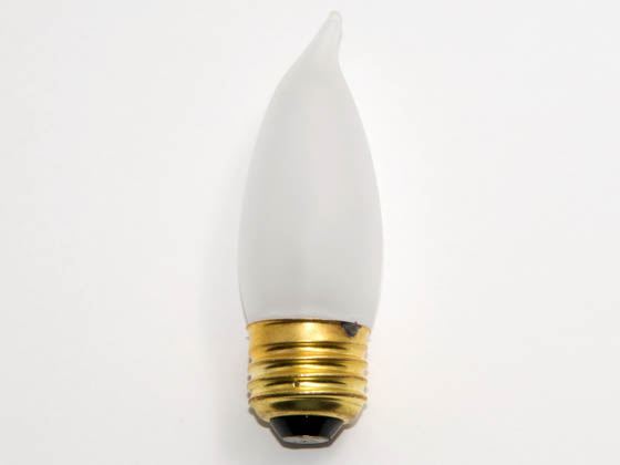 Bulbrite 409040 40EFF (130V) 40W 130V Frosted Bent Tip Decorative Bulb, E26 Base