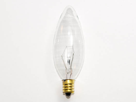 Bulbrite 400525 25CTC/HV (220V) 25W 220V Clear Blunt Tip Decorative Bulb, E12 Base