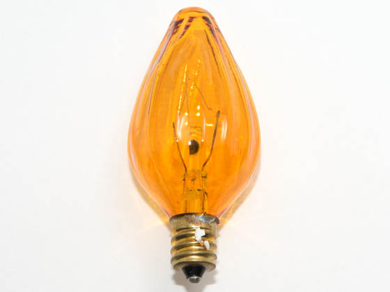 Bulbrite 420225 25F10A (Amber) 25W 130V F10 Amber Fiesta Decorative Bulb, E12 Base