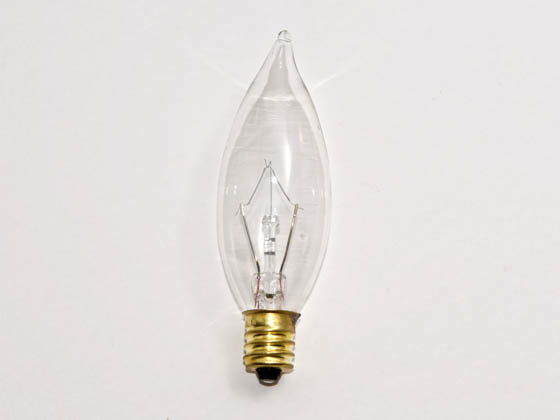 Bulbrite 493125 E25CFC/25 (120V) 25W 120V Clear Bent Tip Decorative Bulb, E12 Base