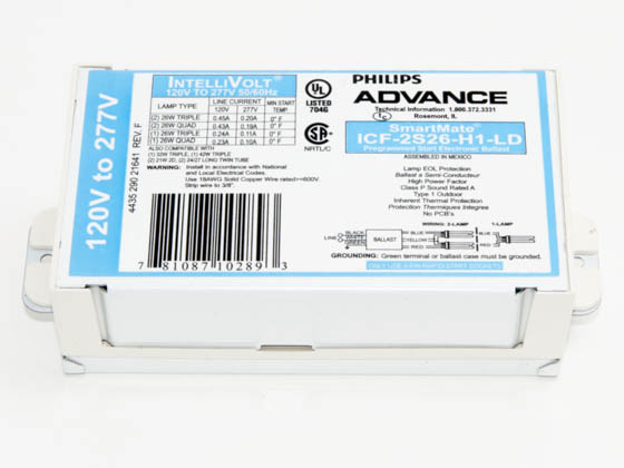 Advance Transformer ICF2S26H1LDK ICF2S26H1LDK (120-277V) Philips Advance Electronic Ballast 120V to 277V
