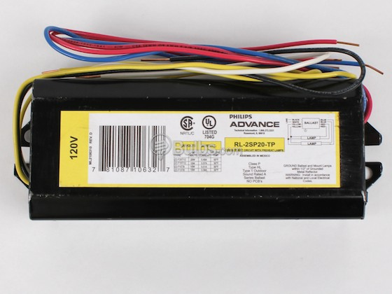 Advance Transformer RL2SP20TP RL2SP20TP (120V) Philips Advance Magnetic Ballast 120V for (2) F20T12