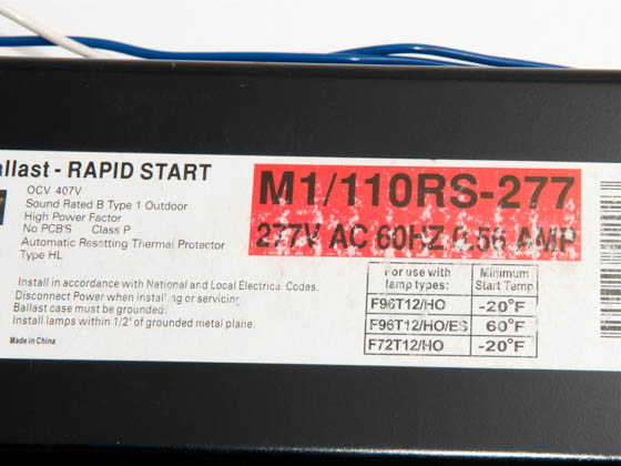 Howard Industries, Inc. M1/110RS-277 Howard 277 Volt One Lamp F96T12 High Output Magnetic Ballast