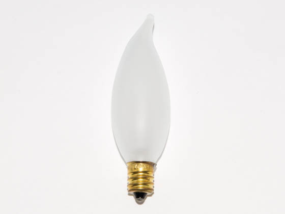 Bulbrite 404115 15CFF/25 15W 130V Frosted Bent Tip Decorative Bulb, E12 Base