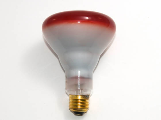Bulbrite 247075 75BR30R  (Red) 75W 120V BR30 Red Reflector E26 Base