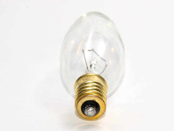 Bulbrite 400440 40CTC/E14 40W 130V Clear Blunt Tip Decorative Bulb, European E14 Base