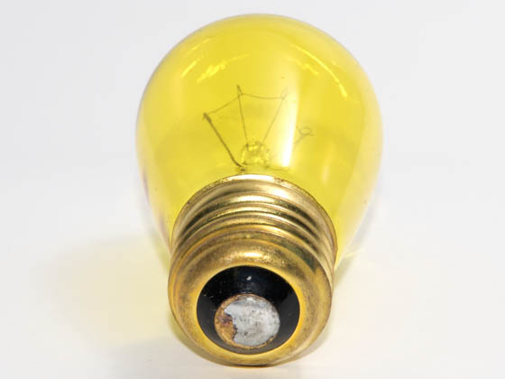 Bulbrite B701811 11S14TY (Trans. Yellow) 11W 130V S14 Transparent Yellow Sign or Indicator Bulb, E26 Base
