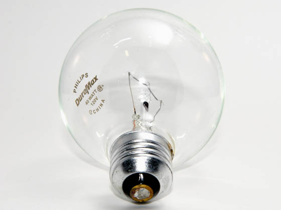 Philips Lighting 167478 40G25/CL/LL Philips 40W 120V G25 Clear Long Life Globe Bulb, E26 Base