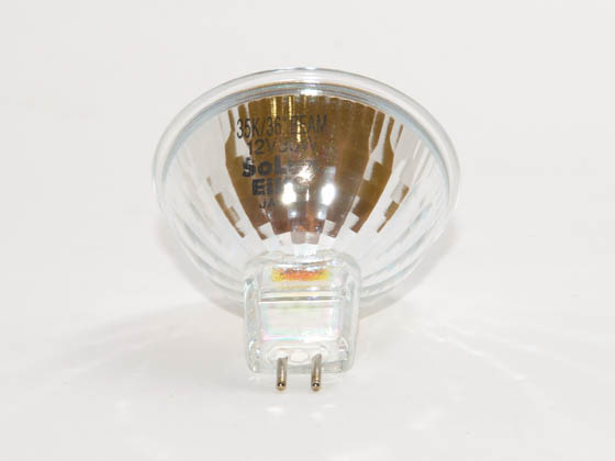 Eiko W-18008 Q50MR16/CG/35/36 50W 12V MR16 Halogen Flood 3500K Bulb