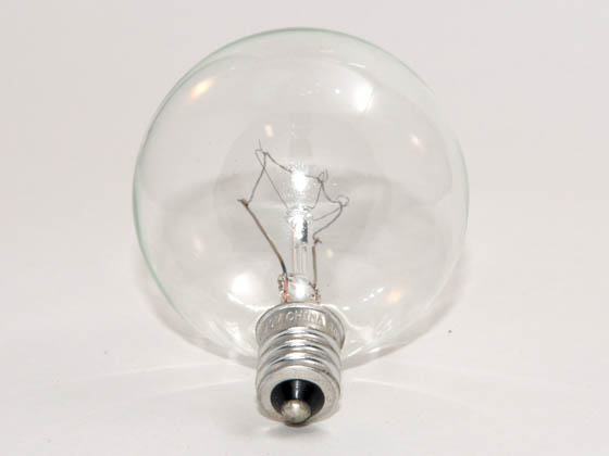Philips Lighting 168468 BC40G16-1/2C/CL/LL  (120V) Philips 40W 120V G16 Clear Long Life Globe Bulb, E12 Base