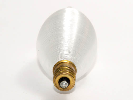 Bulbrite B430060 60C11S (Candelabra Base) 60W 130V Satin ThreadSpun Antique Decorative Bulb, E12 Base