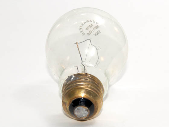 Advanced Lamp Coatings 100A19/CL (Safety) 100 Watt, 130 Volt A19 Clear Safety Coated Bulb