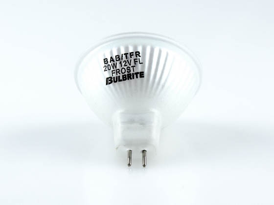 Bulbrite B636120 BAB/TFR 20W 12V Halogen Frosted MR16 GU5.3 Base