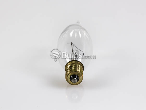 Bulbrite 403125 25CFC/25/3 (130V) 25W 130V Clear Bent Tip Decorative Bulb, E12 Base