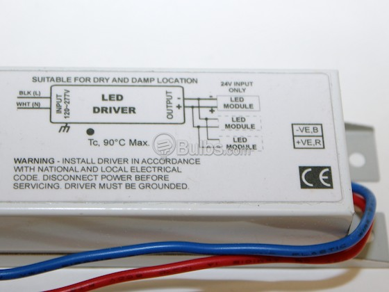 Fulham T1UNV024V-100LS 100W ThoroLED LED Driver, Constant Voltage, 110-240V