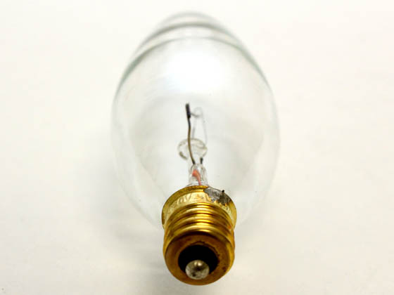 Bulbrite 490025 25CTC/32/2 25W 120V Clear Blunt Tip Decorative Bulb, E12 Base