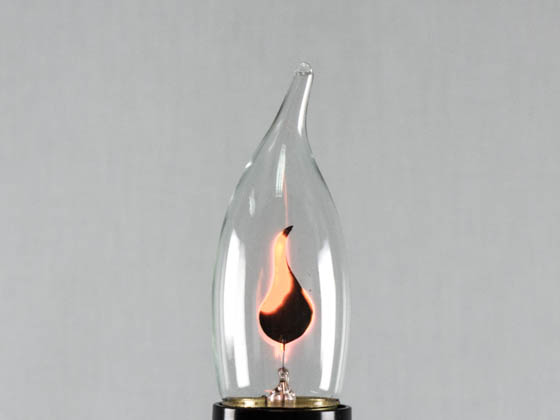 Bulbrite 410803 F3EFC/32 3W 130V Flicker Flame Bent Tip Decorative Bulb, E26 Base