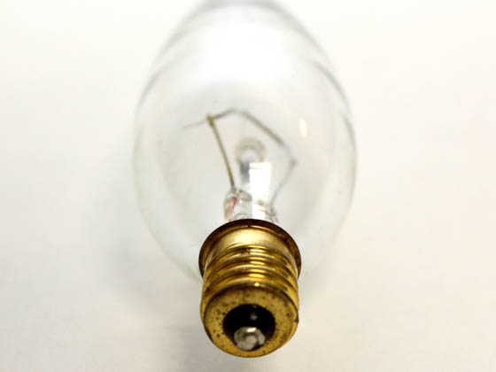 Bulbrite 490060 60CTC/32/2 60W 120V Clear Blunt Tip Decorative Bulb, E12 Base
