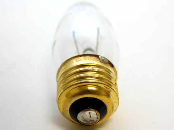 Bulbrite 498040 40EFC/2 40W 120V Clear Bent Tip Decorative Bulb, E26 Base