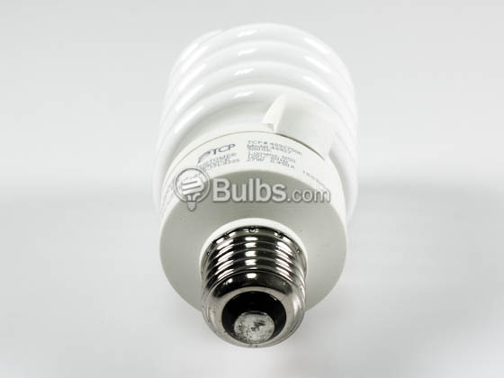 TCP 48927-50K 48927 (5000K) 27W Long Life Bright White Spiral CFL Bulb, E26 Base