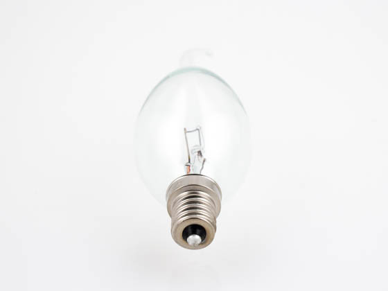 Bulbrite 414025 25CTD/C/2 25W 120V Clear Teardrop Bent Tip Decorative Bulb, E12 Base