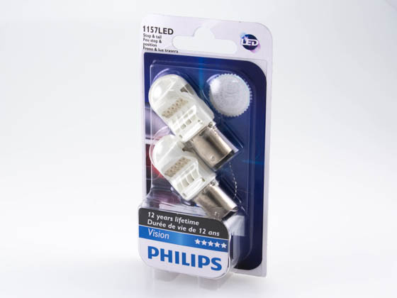 Philips Lighting 1157 LED 12836REDB2 PHILIPS Vision LED 1157 Red Miniature Automotive Stop/Tail Light