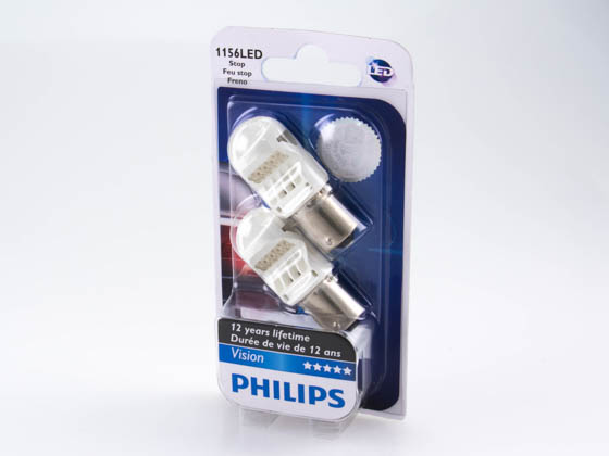 Philips Lighting 1156 LED 12839REDB2 Philips LED 1156 Vision Red Mini Auto Stop, Tail Light