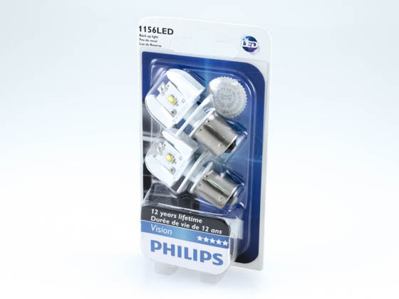 Philips Lighting 1156 LED WHITE 12898B2 PHILIPS LED 1156 White Miniature Automotive Stop/Tail Light