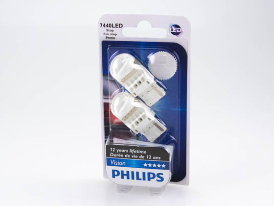 Philips Lighting 7440 LED 12838REDB2 PHILIPS Vision LED 7440 Red Miniature Automotive Stop/Tail Light
