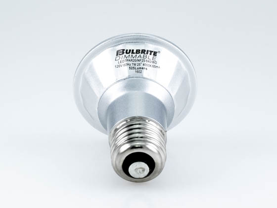 Bulbrite 772718 LED7PAR20/FL40/840/WD Dimmable 7W 4000K 40° PAR20 LED Bulb, Wet Rated