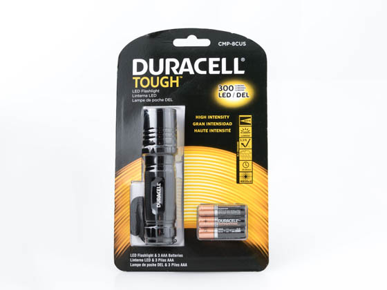 Duracell CMP-8CUS Tough Compact Pro Series CMP-8CUS 300 Lumens LED Flashlight
