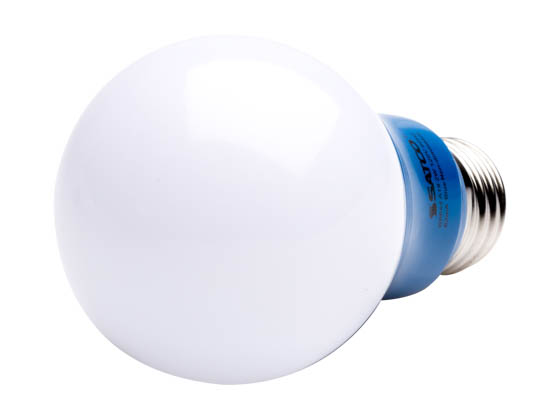 Satco Products, Inc. S9644 2A19/LED/BLUE/120V Satco Non-Dimmable 2W Blue A19 LED Bulb, Enclosed Fixture Rated