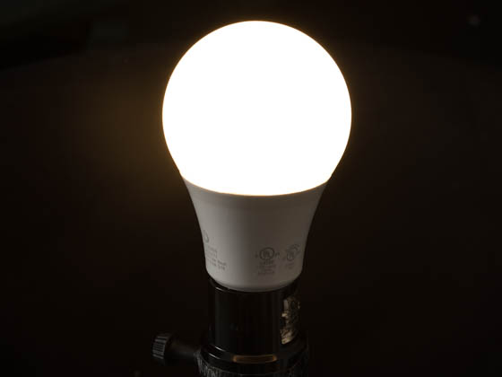 Green Creative 58037 9A19/827/277V Non-Dimmable 9 Watt, 120-277 Volt 2700K A-19 LED Bulb, Enclosed Rated