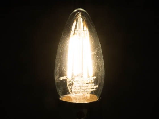 Bulbrite 776662 LED4B11/27K/FIL/E26/2 Dimmable 4W 2700K Decorative Filament LED Bulb, Enclosed Fixture Rated