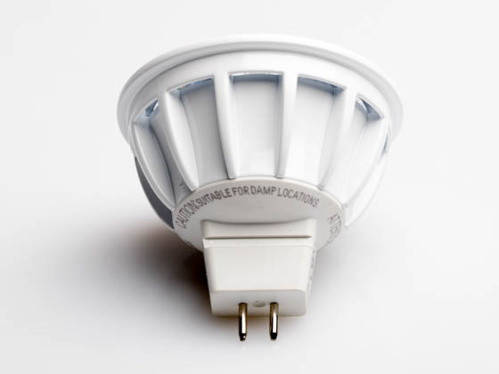 Bulbrite 771305 LED8MR16SP15/50/830/D Dimmable 8W 3000K 15° MR16 LED Bulb, GU5.3 Base, Rated For Enclosed Fixtures