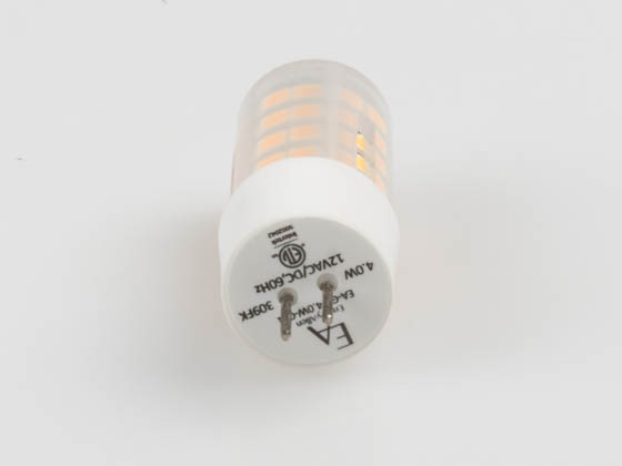 EmeryAllen EA-G4-4.0W-001-309F Dimmable 4W 12V 3000K JC LED Bulb, G4 Base, Enclosed Fixture Rated