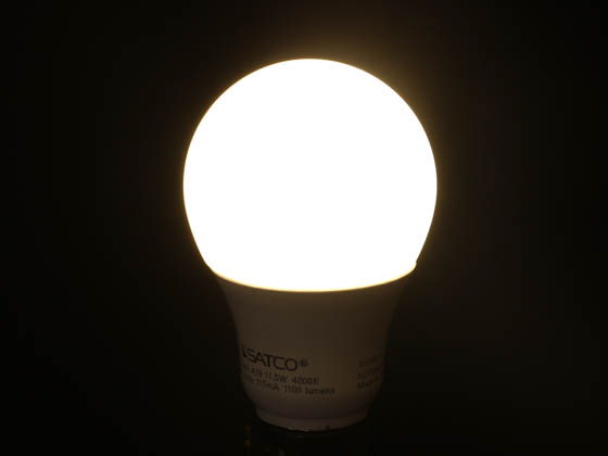 Satco Products, Inc. S28767 11.5A19/LED/40K/ND/120V Satco Non-Dimmable 11.5 Watt, 120 Volt 4000K A-19 LED Bulb, Enclosed Fixture Rated