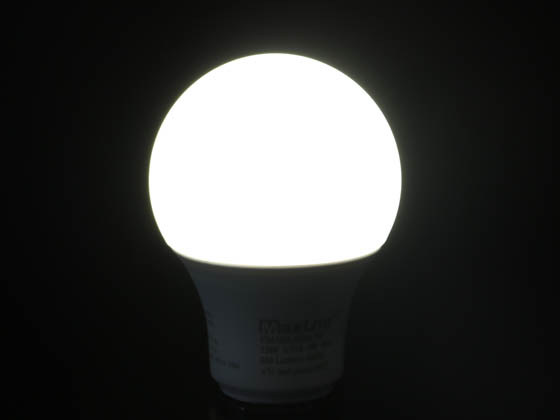 MaxLite 14099398 E9A19DLED40/G6 Maxlite Dimmable 9 Watt 4000K A19 LED Bulb, Enclosed Rated