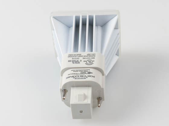 Keystone KT-LED82P-V-840-D Non-Dimmable 8W 2 Pin Vertical 4000K G24d/G24q LED Bulb, Ballast Bypass