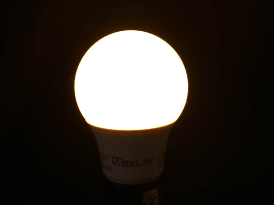 MaxLite 102600 E6A19NDV27 Maxlite Non-Dimmable 6W 2700K A19 LED Bulb, Enclosed Fixture Rated