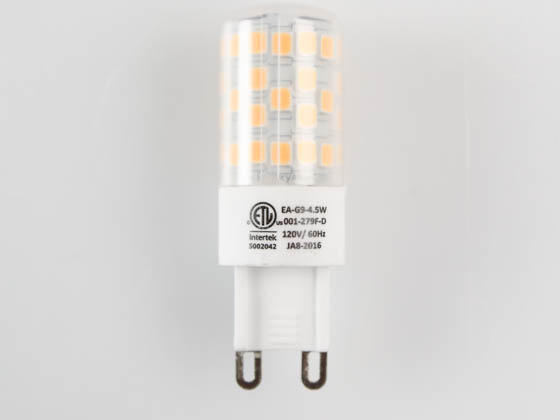 EmeryAllen EA-G9-4.5W-001-279F-D Dimmable 4.5W 120V 2700K T3 LED Bulb, G9 Base, Enclosed Rated, JA8 Compliant
