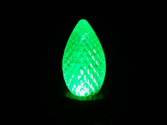 American Lighting NC7D-LED-GR 0.35W Green C7 Holiday LED Bulb with Faceted Lens, Outdoor Rated