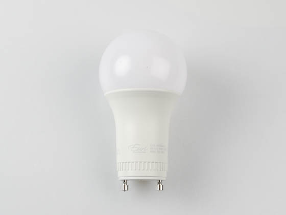 Euri Lighting EA19-8W2040eG-2 Dimmable 8W 4000K A19 LED Bulb, GU24 Base, Enclosed Fixture Rated