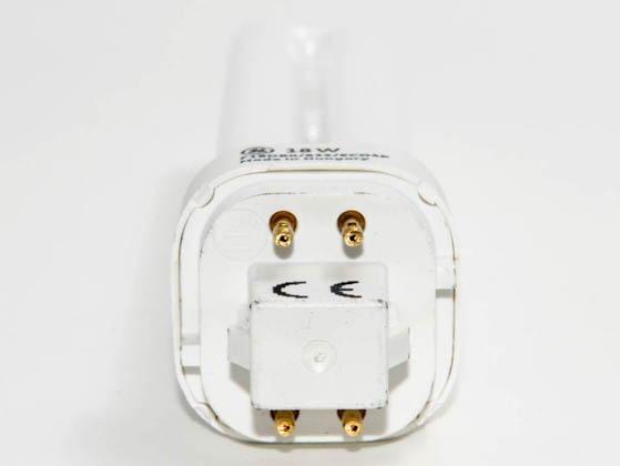 GE GE97600 F18DBX/835/4PL (4-Pin) 18W 4 Pin G24q2 Neutral White Double Twin Tube CFL Bulb