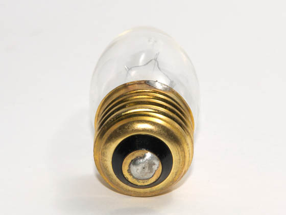 Bulbrite 408040 40EFC (130V) 40W 130V Clear Bent Tip Decorative Bulb, E26 Base