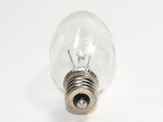 Bulbrite 460015 KR15CTC/25 15W 120V Clear Krypton Blunt Tip Decorative Bulb, E12 Base