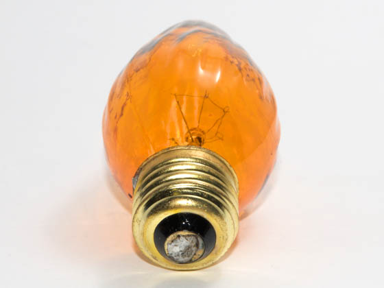 Bulbrite 421225 25F15A (Amber) 25W 130V F15 Amber Fiesta Decorative Bulb, E26 Base