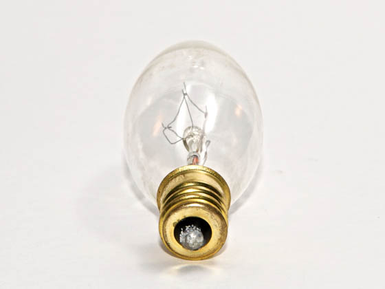 Bulbrite 403115 15CFC/25  (130V) 15W 130V Clear Bent Tip Decorative Bulb, E12 Base